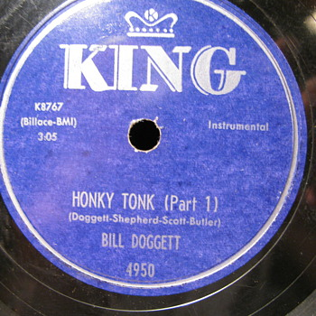 Bill Doggett-- Honky tonk 78 rpm