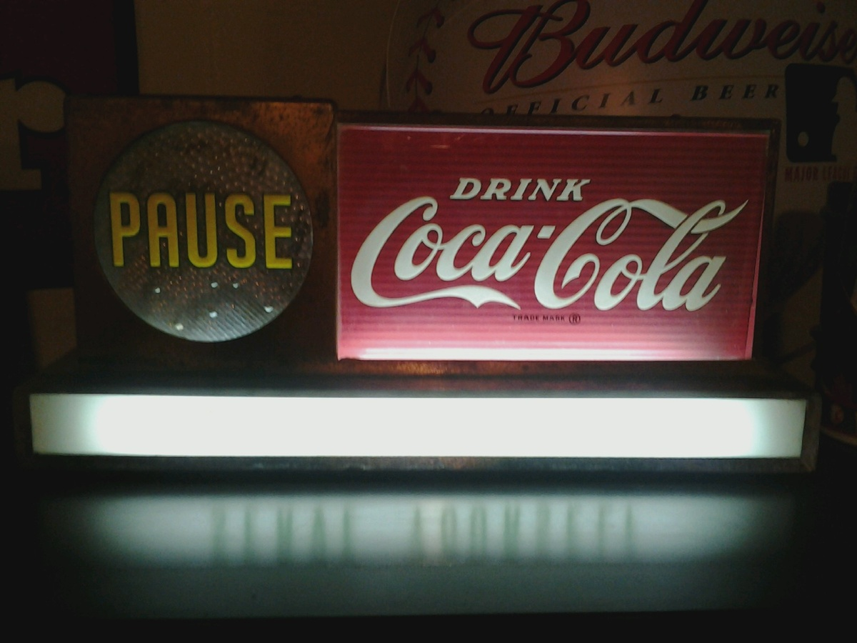 """Light Up \""""Pause Drink Coca Cola\"""" Sign   Collectors Weekly"""