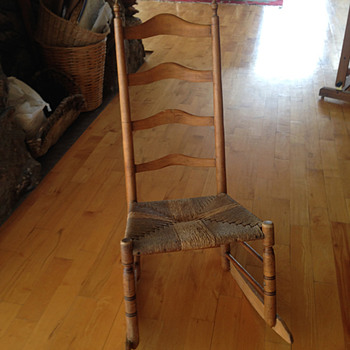 antique ladder back rocker - Furniture