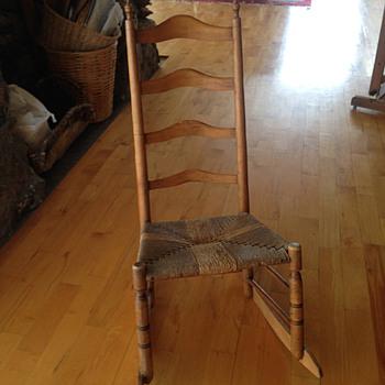 antique ladder back rocker - Furniture
