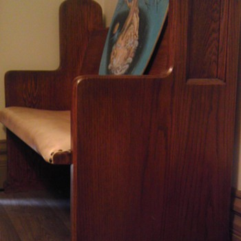 One of two church pews