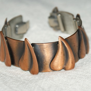Rebajes Vintage Copper Bracelet: Possibly 1950's - Costume Jewelry