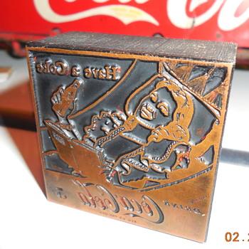 c. 1950 Coca-Cola Ad Letterpress Cut
