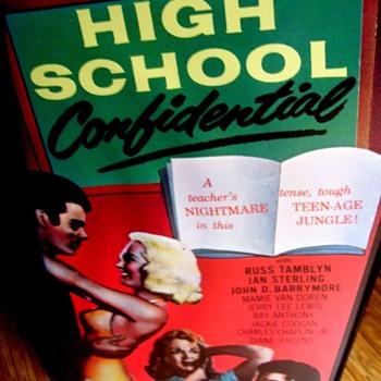 """VHS MOVIE """"HIGH SCHOOL CONFIDENTIAL, 1958, B&W RUSS TAMBLYN"""