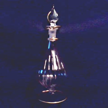 "Light As A Feather /Pale Pink 6"" Perfume Bottle / Maker Unknown/Circa 2oth Century - Bottles"