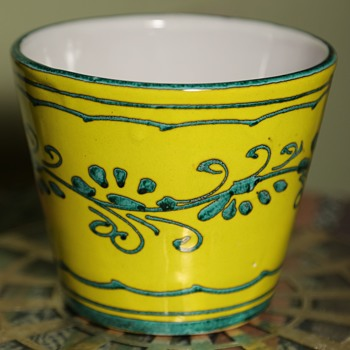Italian Ceramic Cache Pot - Art Pottery