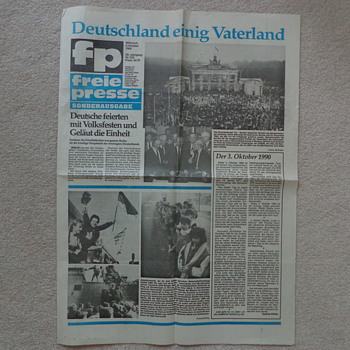 1990 Newspaper: German Reunification