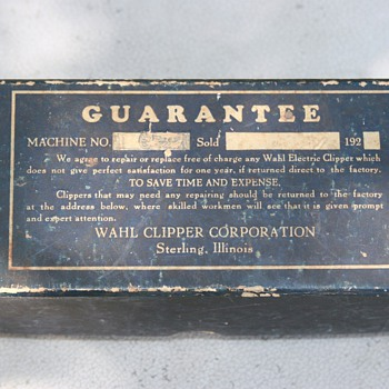 Wahl Electric Clipper 1920's - Tools and Hardware