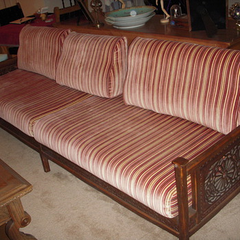 Malaysian Carved Teak Sofa - Furniture