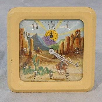 Animated Roy Rogers & Trigger Alarm Clock - Clocks