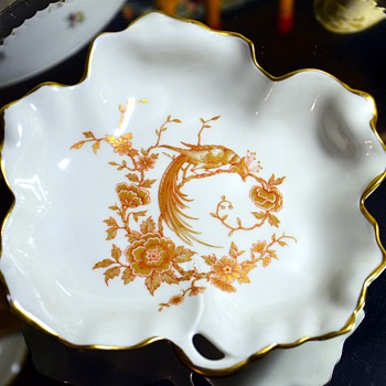 Limoges Porcelain Candy Dish with a Phoenix Design - China and Dinnerware