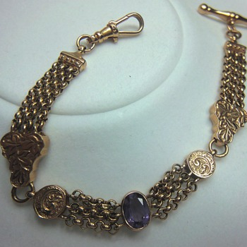 1844 -  Rose Gold watch chain/bracelet