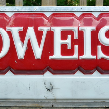 Large Budweiser sign 74 w x 24 h  - Signs