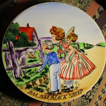 Baa Baa Black Sheep - Plate - Victorian Era