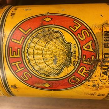 Shell / Roxana Grease Can - 1904-1909 - Petroliana