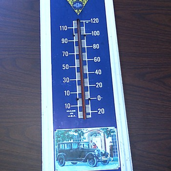 Original dealership Packard thermometer