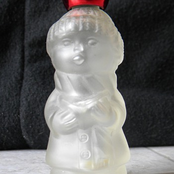 1980 Avon Moonwind Cologne Christmas Caroler - Bottles
