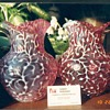 hard to find opalescent cranberry pitchers from the 1800&#039;s