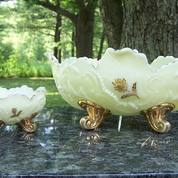 Northwood Louis XV 1898 Custard Master and Berry Bowl
