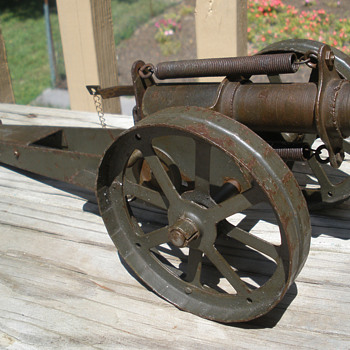 Massive Pressed steel cannon made by D. N. Carlin of Pittsburgh. 1910s-20s