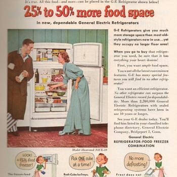 1951 - General Electric Refrigerator Advertisement - Advertising