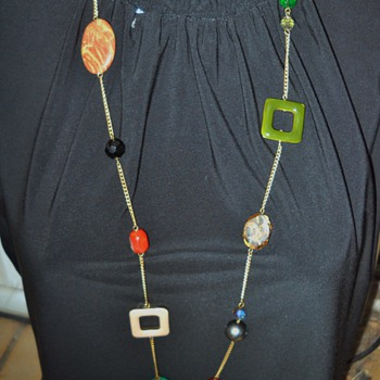 60's - 70's Abstract Groovy necklace! - Costume Jewelry