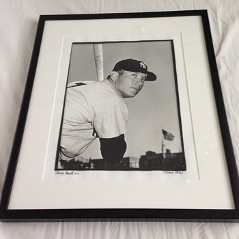 1954 Original Osvaldo Salas Mickey Mantle Photograph