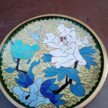 My small cloisonné plate - Asian