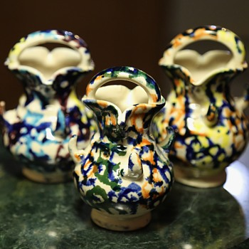 3 little mystery pots... - Art Pottery