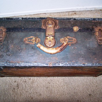 trunk features a lock made by Excelsior in Stamford, CT