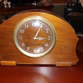 PLYMOUTH CLOCK CO. ART DECO TAMBOUR - Clocks