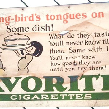 Early 1900's Cardboard Cigarette Advertisement