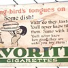 Early 1900&#039;s Cardboard Cigarette Advertisement