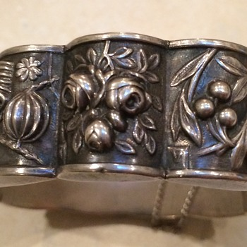 Signed Safir Sterling Silver Bracelet - Fine Jewelry