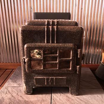 Warm Ray Art Deco Wood Heater - Art Deco