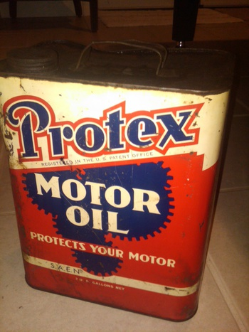 Protex 2 gallon motor oil can collectors weekly for Gallon of motor oil
