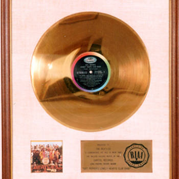 ORIGINAL BEATLES RIAA WHITE MATTE RECORD AWARDS - Music