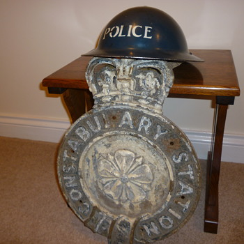 WWII British Police Station Sign