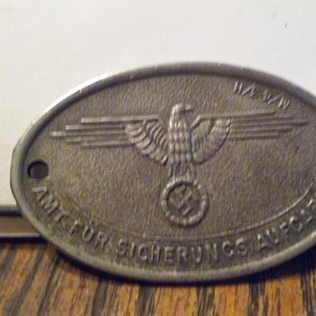 German metal ID tag