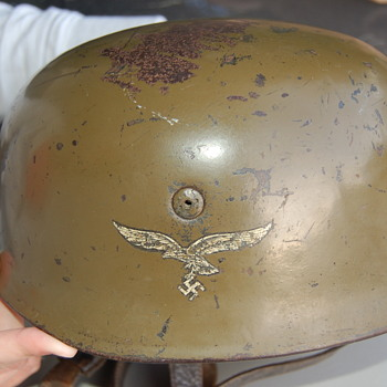 WWII German Paratrooper Helmet - Military and Wartime
