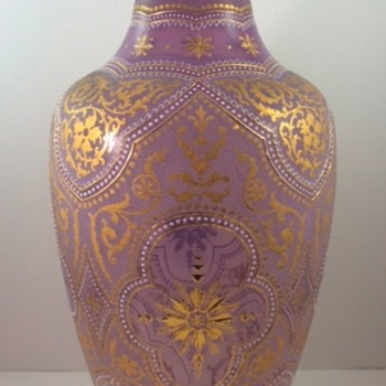 Early Loetz Orientalisierende gilt/enameled vase, ca. 1892, Prod. Nr. unknown