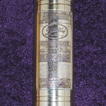 My Pyrene Extinguisher, i think it was made in 1917 not sure. - Firefighting