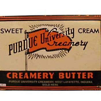 Purdue University Creamery advertising shield - Advertising