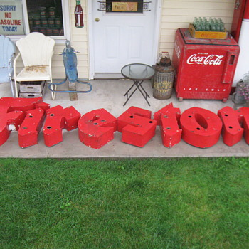 OLD NEON FIRESTONE SIGN - Signs