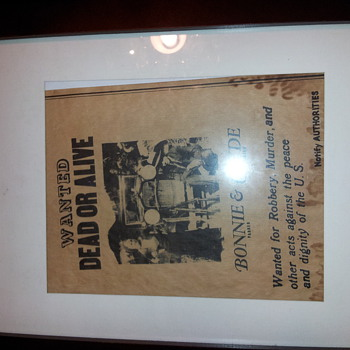 Bonnie and clyde Wanted Dead or Alive - Posters and Prints