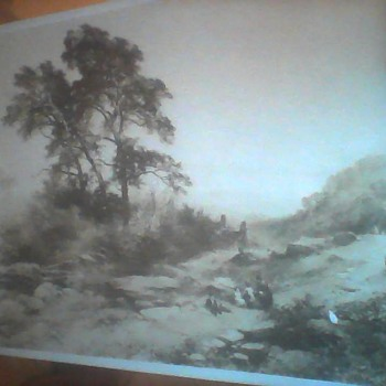 1861 Photo of painting by John Syer    North Wales