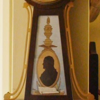 Seth Thomas Banjo Clock Thomas Jefferson Monticello - Clocks
