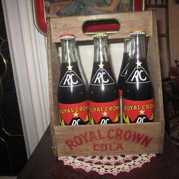 Royal Crown Cola Wooden Bottle Carrier - Advertising