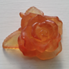 Daum Amber Glass flower