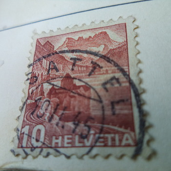 Helvetia Old Postage Stamps